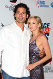 Dimitri Charalambopoulos, Camille Grammer arrives at the 19th Annual Race to Erase MS gala Stock Photo