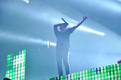 Dimitri Vegas Jak Mike żywy koncert i obrazy stock