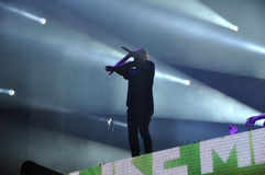Dimitri Vegas Jak Mike żywy koncert i zdjęcia stock