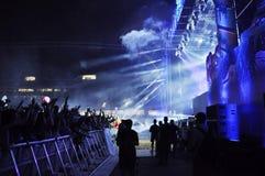 Dimitri Vegas Jak Mike żywy koncert i zdjęcia royalty free