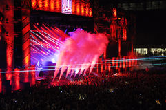 Dimitri Vegas and Like MIke live concert Stock Images