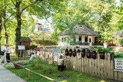 Dimitrie Gusti National Village Museum (Muzeul Satului) Lizenzfreie Stockfotos