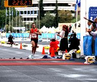 dimitrios ・希腊马拉松运动员theodorakakos 免版税库存图片