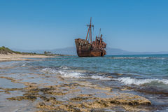 Dimitrios shipwreck Zdjęcia Royalty Free