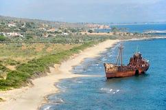 Dimitrios skeppsbrott Royaltyfri Bild