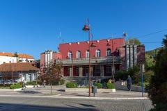 DIMITROVGRAD, SÉRVIA -16 ABRIL DE 2016: Centro da cidade de Dimitrovgrad, região de Pirot, Sérvia Fotografia de Stock Royalty Free