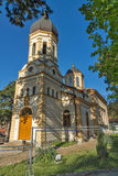 DIMITROVGRAD, SERBIA -16 APRIL 2016: The church Virgin Mary in Dimitrovgrad, Pirot Region, Serbia. DIMITROVGRAD, SERBIA -16 APRIL 2016: The church Virgin Mary in stock photo