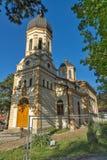 DIMITROVGRAD SERBIEN -16 APRIL 2016: Den kyrkliga jungfruliga Maryen i Dimitrovgrad, Pirot region, Serbien arkivfoto