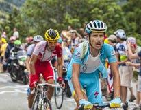 Dimitry Muravyev Wspina się Alpe d'Huez Obraz Stock