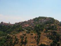 Dimitsanastad in de Peloponnesus Griekenland Stock Foto