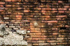 Dimly lit old brick wall texture blackground. 02/14/2018 royalty free stock image