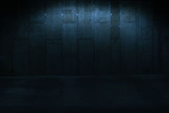 Dimly Lit Wall in Industrial Buildings. Dark Abstract Background - Architectural Close Up of Dimly Lit Wall in Industrial Building with Copy Space stock photos