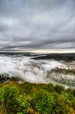 Dimma över en dal 7 Arkivfoton