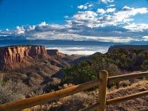 Dimma över Grand Junction royaltyfri fotografi
