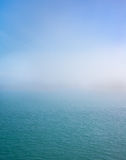 Dimma över södra Detroit River Royaltyfria Bilder