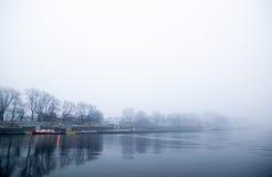 dimma över tjockt vatten arkivbilder
