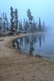 Dimma filt sjön Royaltyfri Fotografi