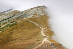 Dimma i berg Arkivfoto