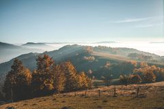 Dimma i bergen Royaltyfri Bild