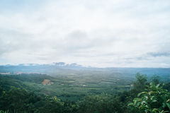 Dimma i berglandskap Royaltyfria Bilder
