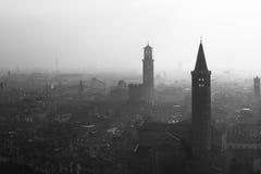 Dimma i Verona, Italien Arkivbilder