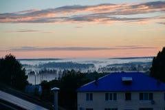 Dimma på solnedgången Royaltyfri Bild