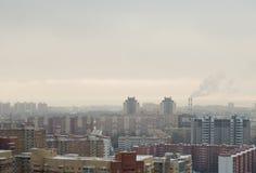 Dimman under den stora staden Royaltyfria Bilder