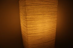 Dimmed paper lamp - cozy lighting Stock Photo