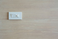 Dimmer switch and light switch Royalty Free Stock Image
