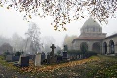 dimmig churchyard royaltyfri foto