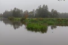 Dimmig flod i nedgång Arkivfoton