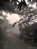 Dimmig morgon i den Bengal bygden Arkivfoto