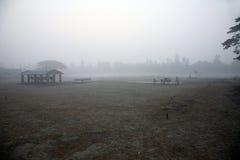 Dimmig morgon i den Bengal bygden Kumrokhali Arkivfoto