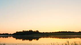 Dimmig morgonsoluppgång på träsk stock video