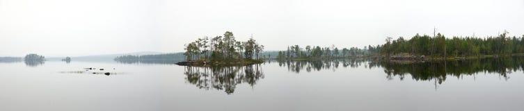 dimmig panorama för lake Royaltyfri Fotografi