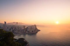 Dimmig soluppgång Arkivbilder