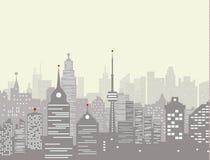 Dimmig stadshorisont Arkivfoton