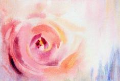 Dimmig vattenfärgkonst steg Royaltyfri Fotografi