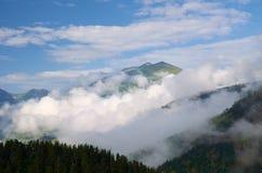 dimmiga berg Royaltyfria Foton
