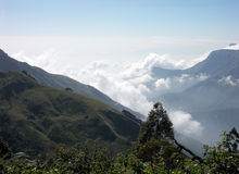 Dimmiga berg av Kerala royaltyfria foton