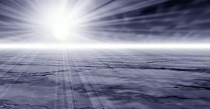 dimmiga strålar Arkivfoton