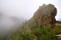 Dimmigt landskap i de Carpathians bergen Royaltyfri Fotografi