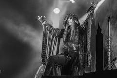 Dimmu Borgir, Shagrath, żyje koncert 2018 Hellfest obraz royalty free