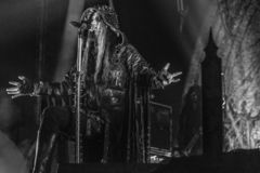 Dimmu Borgir, Shagrath, żyje koncert 2018 Hellfest obrazy royalty free