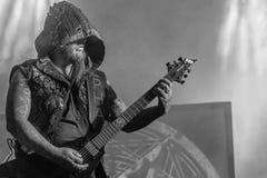 Dimmu Borgir, Silenoz, żyje koncert 2018 Hellfest obrazy stock