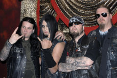 Dimmu Borgir with Weston Cage appearing. Stock Images