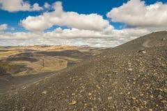 Dimmuborgir area - Iceland. Colourful ground. Royalty Free Stock Photo