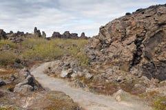 Dimmuborgir, Iceland Stock Image