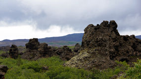 Dimmuborgir at Myvatn lake in Iceland Stock Photos