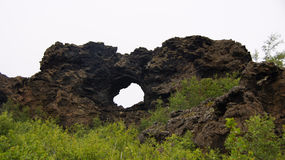 Dimmuborgir at Myvatn lake in Iceland Stock Photo